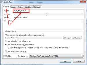 Memanggil file php dengan task scheduler windows 05