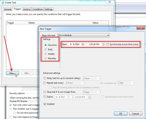 Memanggil file php dengan task scheduler windows 06